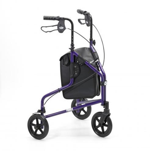 image-of-purple-Lightweight-Tri-Wheel-Walker-With-Bag